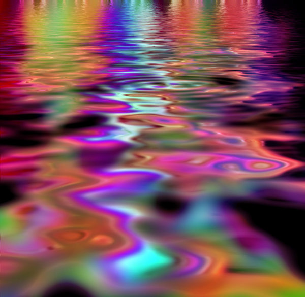 Rainbow Reflections 2: Banner of lights reflecting in water in warm carnival colours. Makes a great background, texture or fill. You may prefer:  http://www.rgbstock.com/photo/2dyWx2m/Rainbow+Reflections