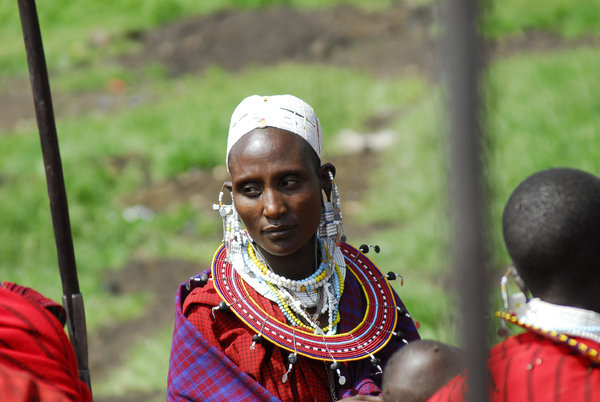 Portrait of a Masai woman: Portrait of a Masai woman