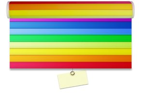 Rainbow curtain blanc: Rainbow sunshade with empty paper note