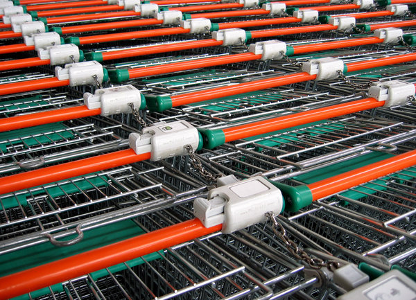 Supermarket trolleys: trolleys