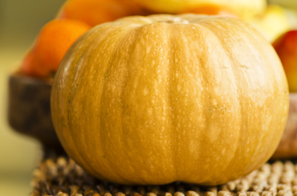 Pumpkin: Large orange pumpkin
