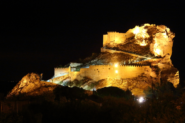 MUSSOMELI CASTLE AT NIGHT