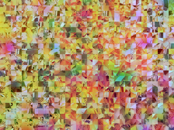colored paper strip mosaic1