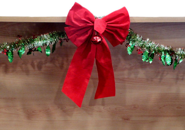 Christmas decorations 15-39: Christmas bow & tinsel decorations