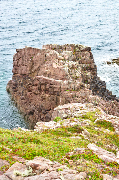 Rocky promontory: Rocky promontory on north west coast of Scotland, near Redpoint, south of Gairloch