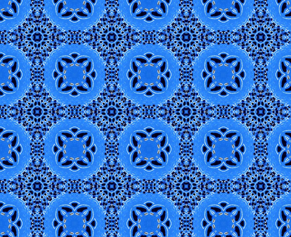 floral blue abstract