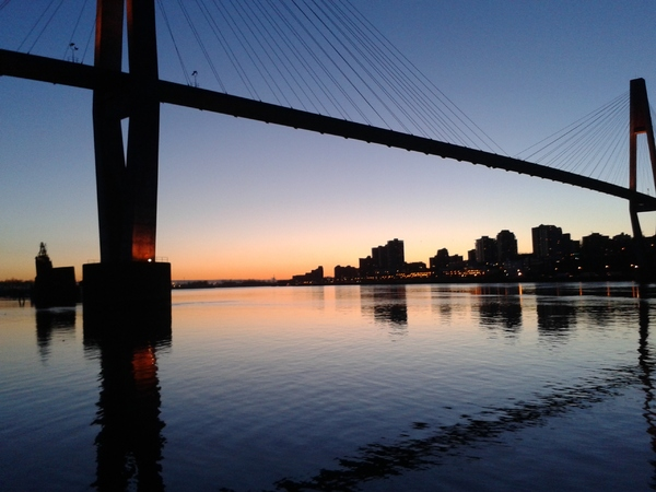 sunset, fraser river