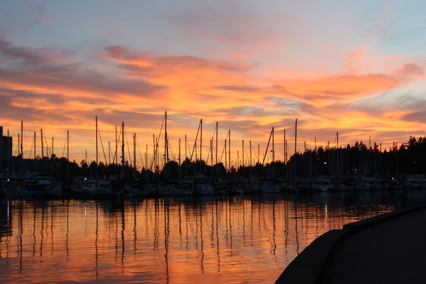 red sky: vancouver harbour