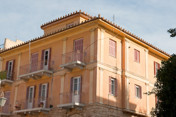 Town house: A town house in southern Greece.
