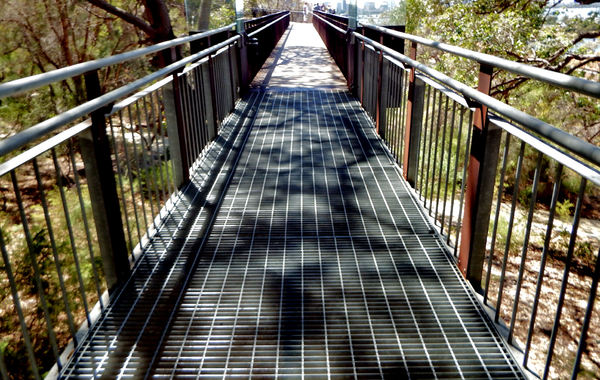 shaded treetop walk2: public park walkway gradually increasing in height until it became level with treetops
