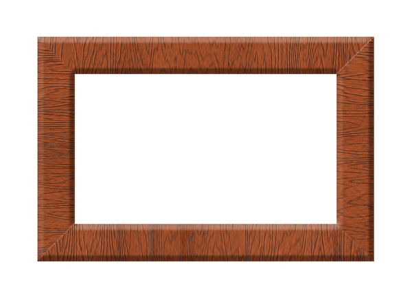 Wooden Frame: A wooden frame on a white background.