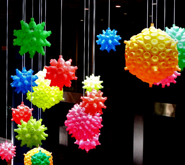 bottle baubles2: colourful suspended ceiling decorations made from plastic bottles