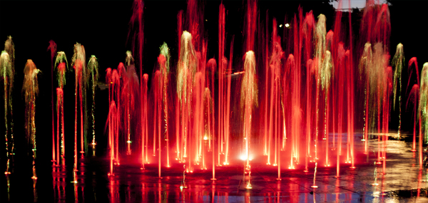 Colorful fountain