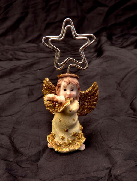 table top angel1: miniature ceramic table top Christmas angel/messenger