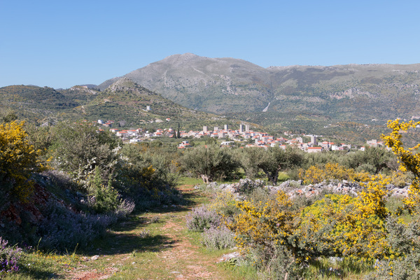 Rural track: A rural track to a village in southern Greece.