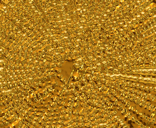 radiating gold bubbles