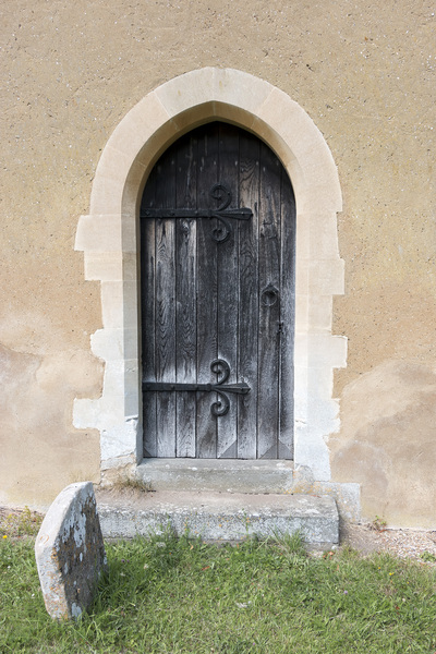 Old church door: Door of an old church in Buckinghamshire, England.