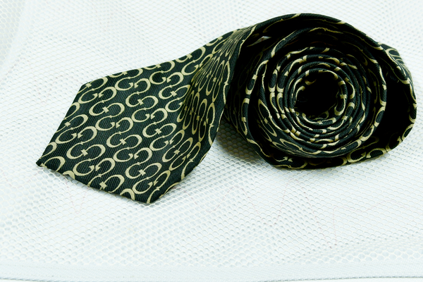 close up of a men's luxury tie