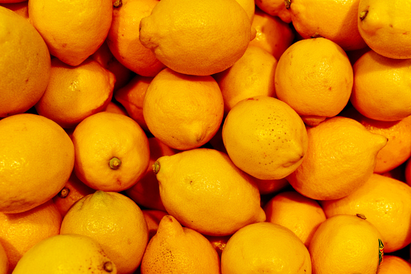 Fresh yellow lemons,