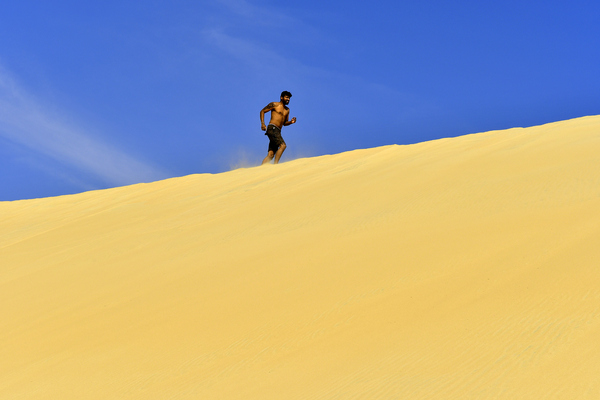 fitness on a Desert Dune