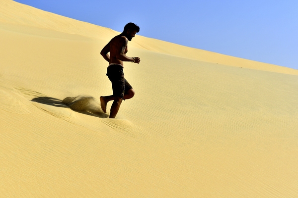 running on a Desert Dune