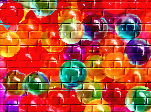 painted bright balloon bricks