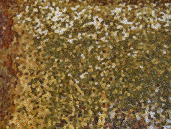 sequins covered fabric2: light reflections from sequins covered cushion mesh fabric