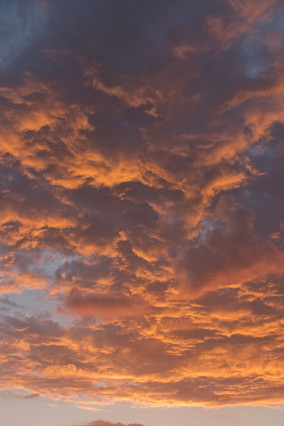 Sunset clouds: Clouds at sunset in southern England.