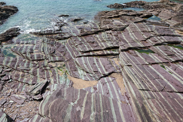 Striped rocks
