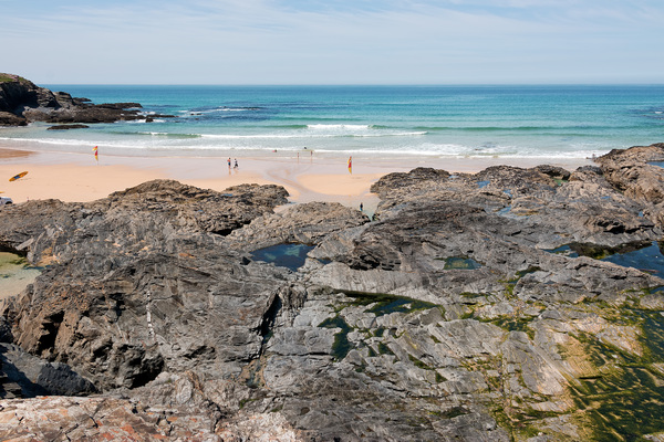 Coastal rockpools and beach