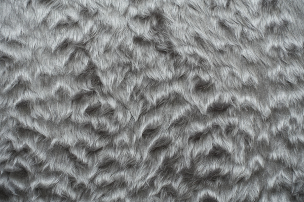 artificial silver fur