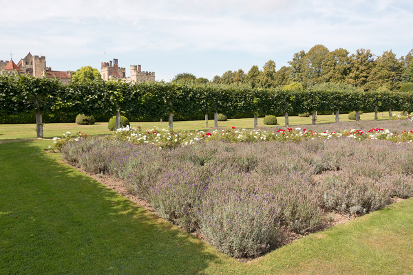 Semi-formal garden: A semi-formal garden in the grounds of Penshurst Place, an historical stately house in Kent, England. Photography in these grounds was freely permitted.