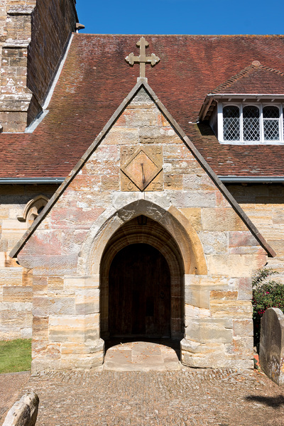 Old Sussex church entrance