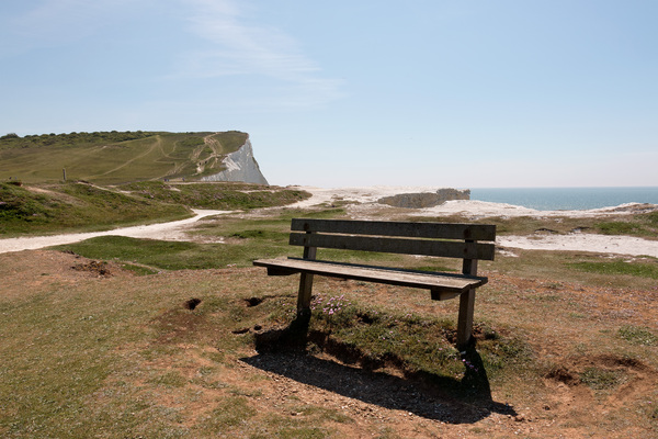 Bench on a cliff top