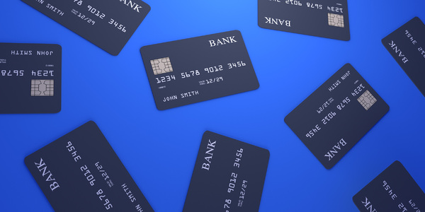 Credit cards: A simple money concept render in a cool mood.