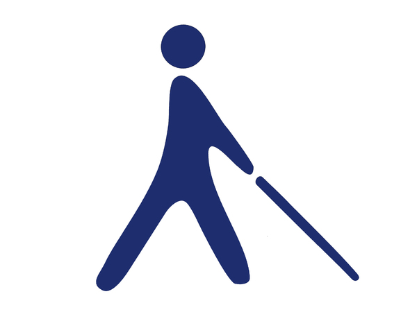 blind person pictogram