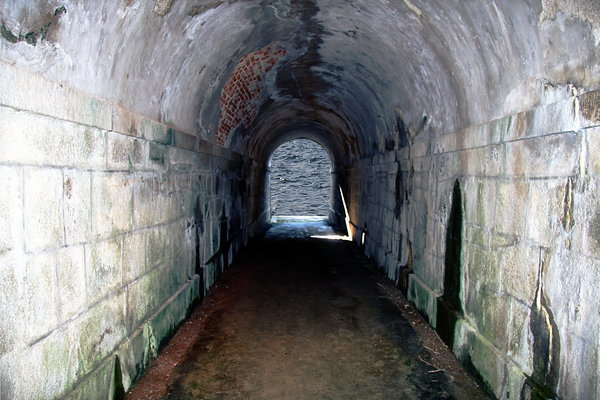 Old tunnel to the ocean