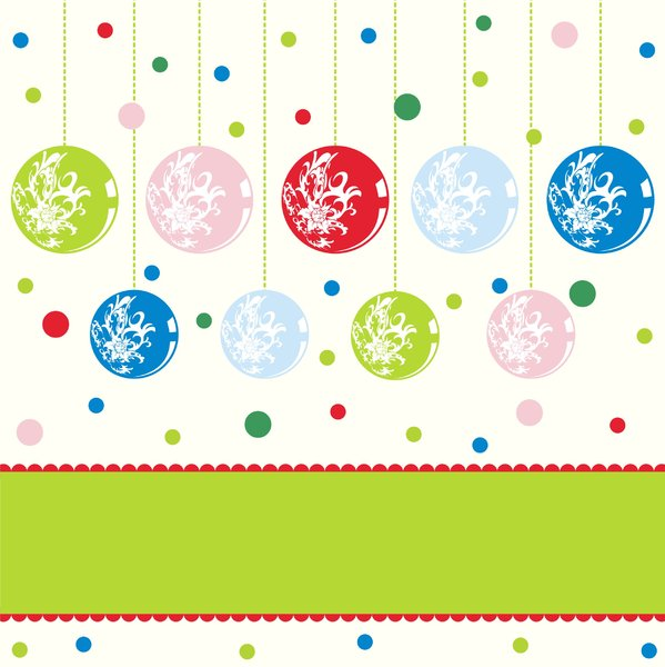 Colorfull christmascard