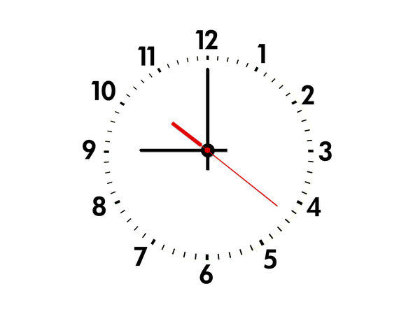 clock: black and white clock