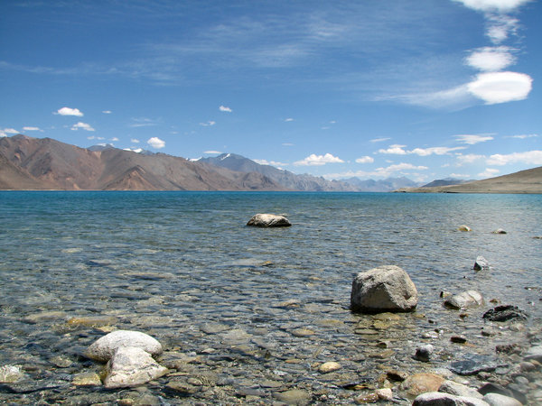 Pangong Lake: Pangong lake, Ladakh (The world's highest brackish water lake)