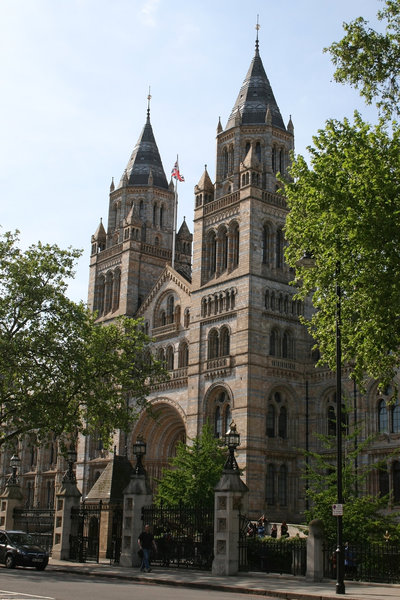 Museum: Main entrance of the Natural History Museum, London, England.