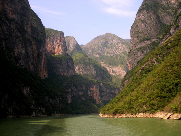 Lesser Three Gorges: View on the Lesser Three Gorges of the Daning river (a tributory to the Yangtze) in China.A