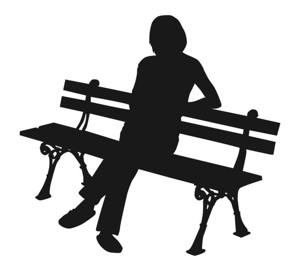 Girl on a bench: A plain silhouette. Girl on a bench.Please comment this shot or mail me if you found it useful. Just to let me know!I would be extremely happy to see the final work even if you think it is nothing special! For me it is (and for my portfolio).