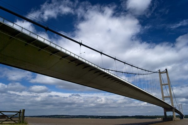 Humber bridge 2: Humber bridge in Kingston upon Hull, England.