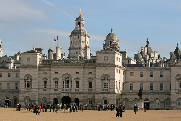 Horse Guards Parade: The tourist attraction of Horse Guards Parade, London, England.