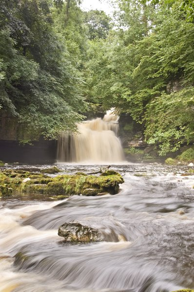 West Burton Falls: the waterfalls at west burton,north yorkshire