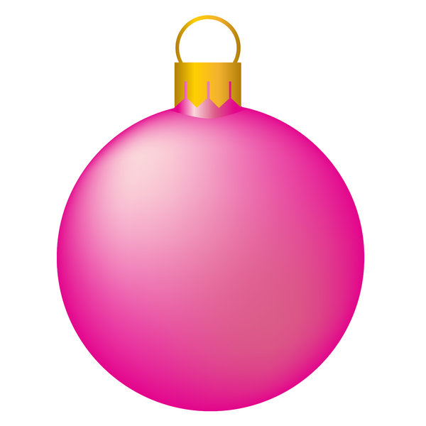 Christmas Tree Bauble 4: Isolated bauble on a white background.