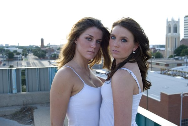 Amy Lee and Kayla 6: Two girls downtown
