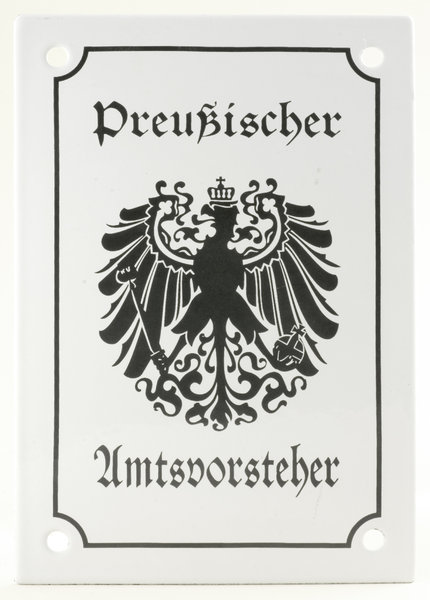 Old prussian information plate