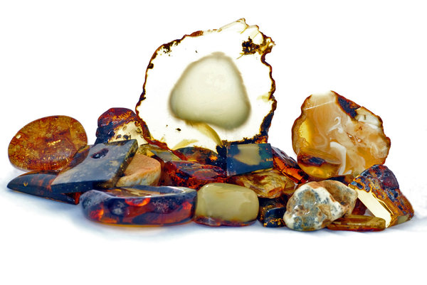 Treasure of Baltic amber: Few of  natural amber stones